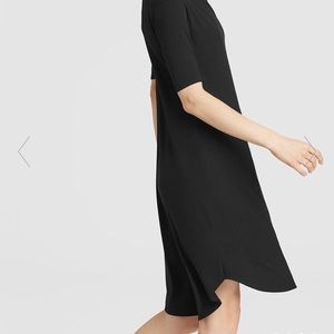 NWT Eileen Fisher Viscose Jersey Drape Neck Dress
